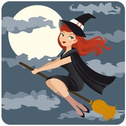 retro-styled witch