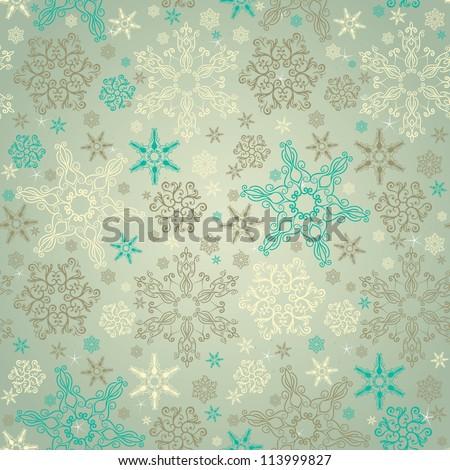 retro stylish winter background ...