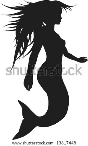 Retro stylized illustration of a Mermaid