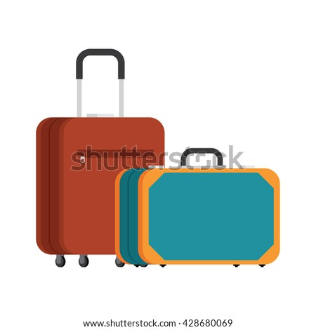 retro suitcase and a modern