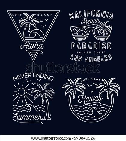 retro summer print set for t