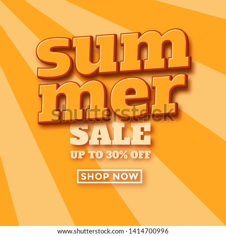 Retro summer sale design template for online retailers and web shops