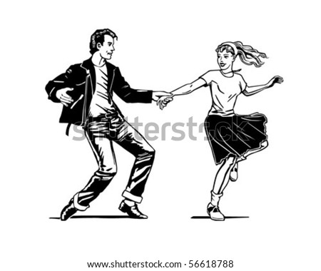 Retro Swing Dancing Retro Clip Art