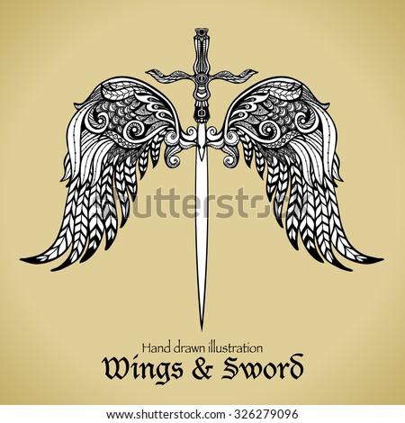 retro sword with gothic