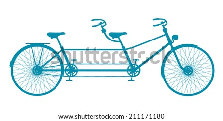 retro tandem bicycle in blue