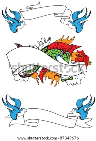 retro tattoo - stock vector