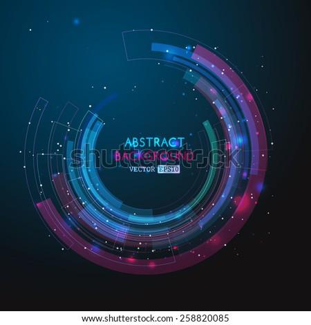 retro technology circle