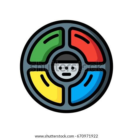 retro technology icons   simon