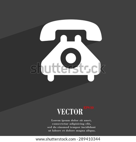 retro telephone handset  icon