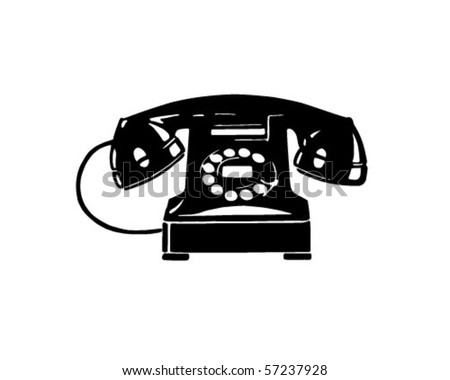 Retro Telephone 1 - Retro Clip Art