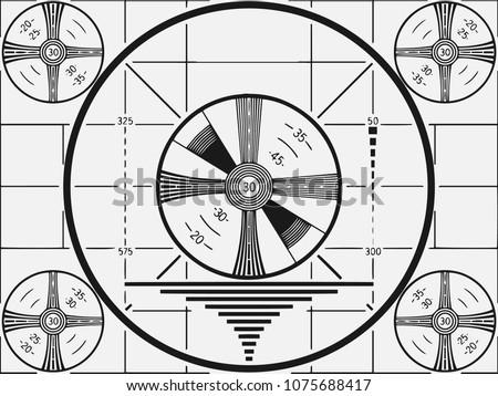retro television test pattern