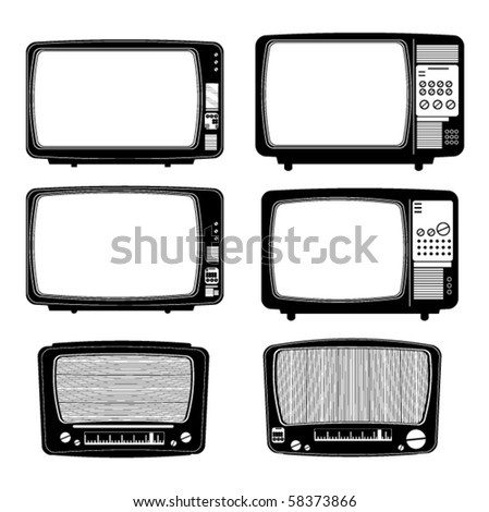 retro televisions and two radio