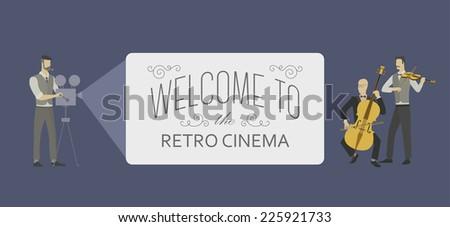 retro template for a web video