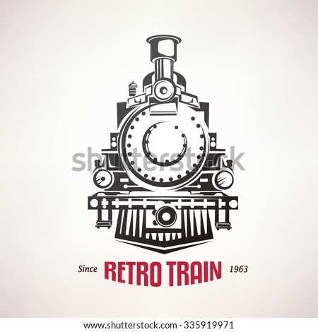 retro train  vintage  vector...