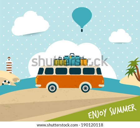 retro travel bus concept....