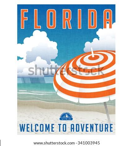 retro travel poster or sticker...