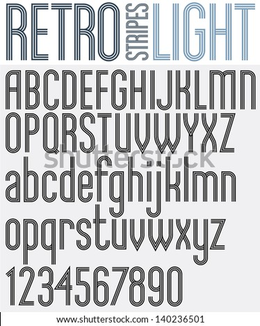 retro triple line rounded bold