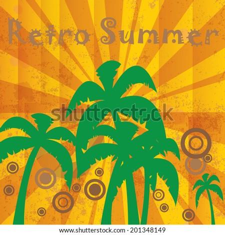 Retro tropical relax editable background