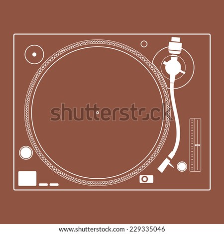 retro turntable vinyl record