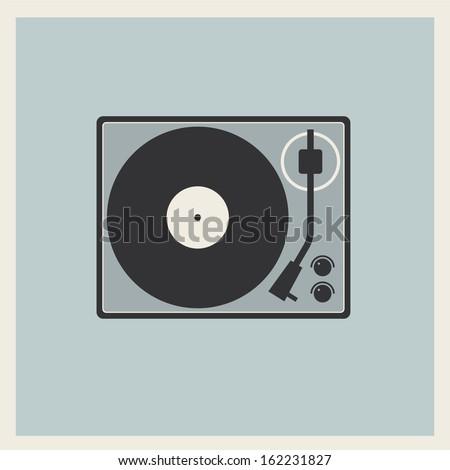 retro turntable vinyl record