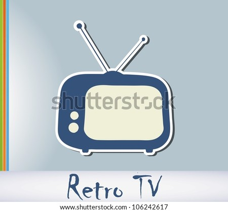Retro TV background
