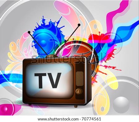 Retro TV poster