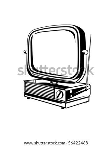Retro TV 2 - Retro Clip Art