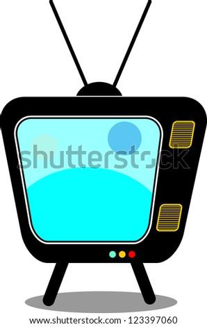 Retro Tv vector illustration - stock vector