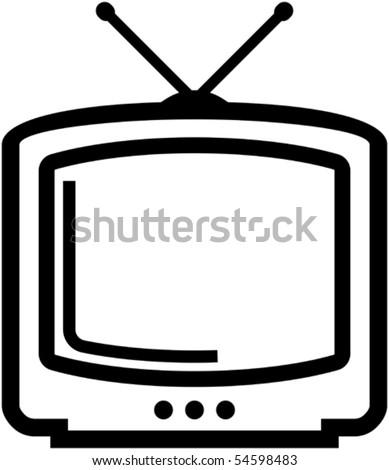 Retro TV â?? Vector illustration - stock vector