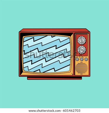 retro tv vector illustration
