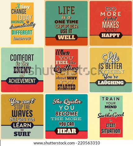 Retro Typographic Poster Design Set