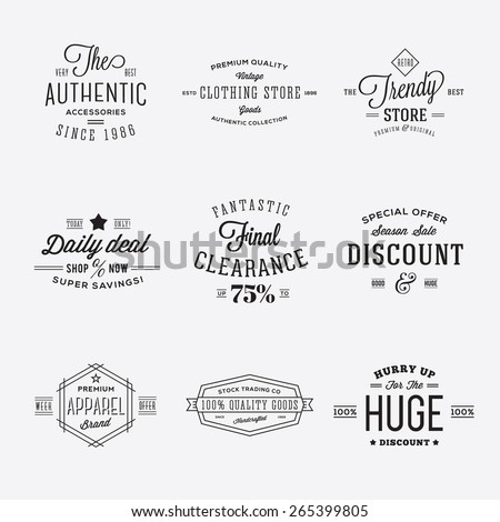 retro typography vector