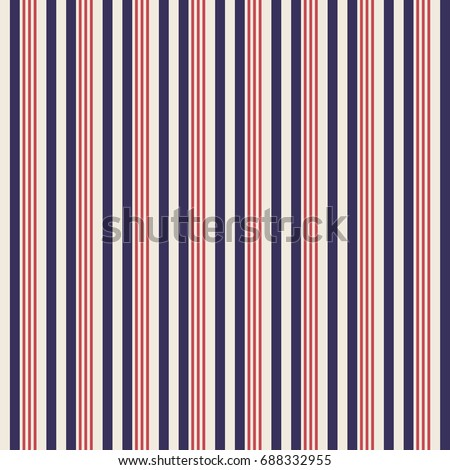 Retro usa Color style seamless stripes pattern. Abstract vector background.
