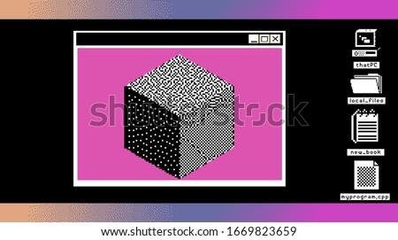 retro user interface desktop