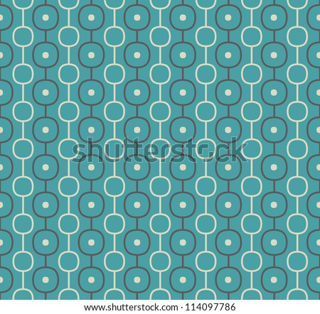 Retro Vector Abstract Atomic Era Background Pattern