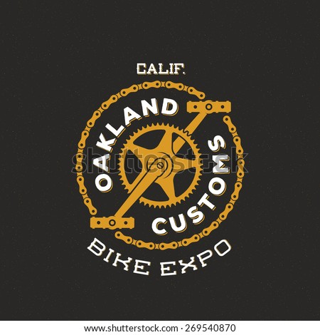Retro Vector Bike Custom Show Expo Label or Logo Design with Typography. Good for T-shirts, Prints, Flayers, etc.