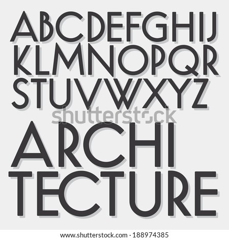 retro vector font geometric