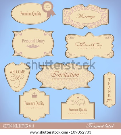 Retro vector  framed label. Premium design elements.