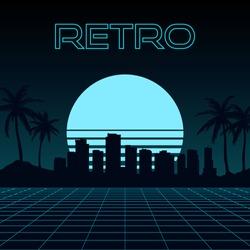 Retro Vector Illustration in 80's Style