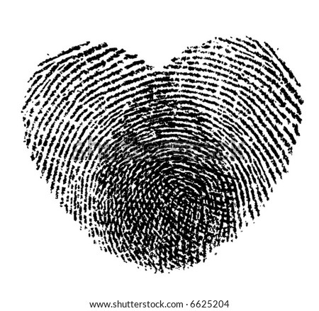 retro vector two fingerprints