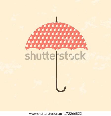 retro vector umbrella...