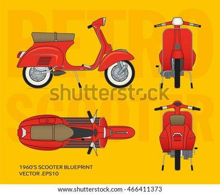 retro vector vestpa scooter