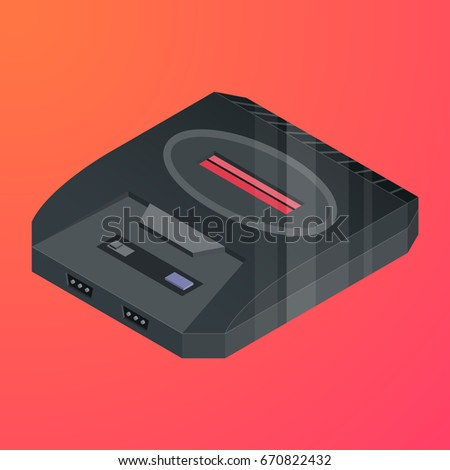retro video game console 3d