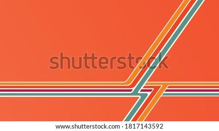 Retro vintage background pattern. Vintage stripe, banner, poster layout. Stockfoto ©
