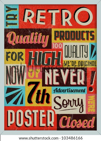 Retro Vintage Background with Typography