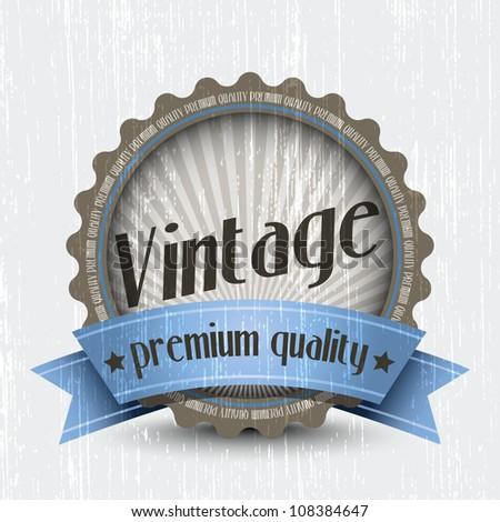 Retro Vintage Badge - Premium Quality. Vector