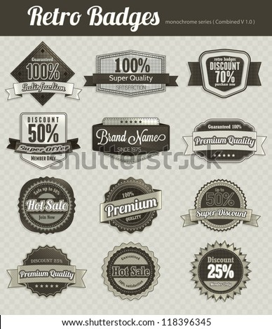 Retro Vintage Badges