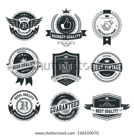 Retro vintage badges and labels