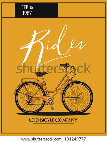 retro vintage bicycle with...