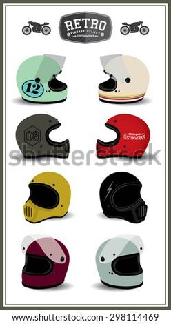 retro vintage cafe racer helmet